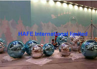 2-10M Subtle Acqua Accents Mirror Ball Balloons Silver Golden For Exhibition Use