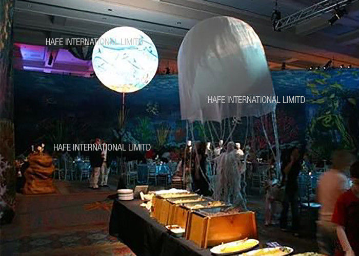 Warm / Neutral White LED Balloon Luminaid Inflatable Light Advertising Logo Customized