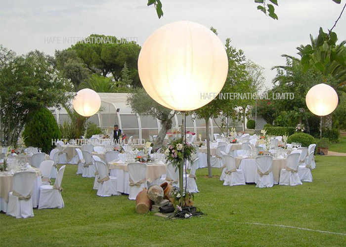 Pearl 1.2 M Lighting Inflatable Balloon Blow Up Led Lantern DC80W For Wedding Events