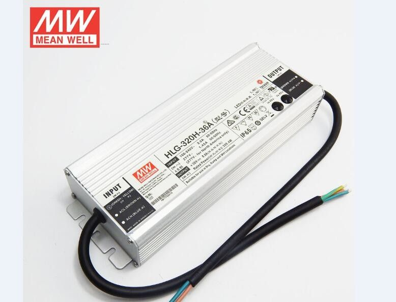 320W 36V Electrical Lighting Accessories , Meanwell PWM Dimming Led Power Driver