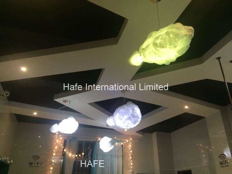 Hanging Suspended Decoration LED Light Discolored Cloud 1.8 M Motion Triggered