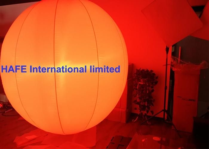1.3M 2M Inflatable Lighting Decoration Sphere Crystal Balloons With DMX512 Box